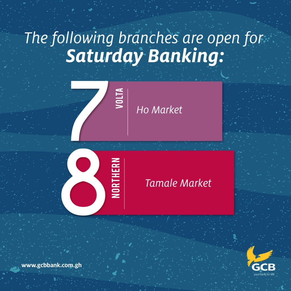 Ghana Commercial Bank Saturday Hours